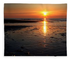 Sundown At The North Sea Fleece Blanket