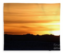Sundre Sunset Fleece Blanket