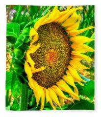Sunflower Bloom Fleece Blanket