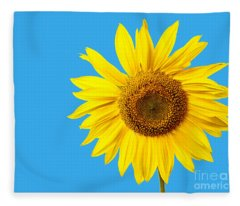 Sunflower Blue Sky Fleece Blanket