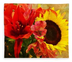 Sunflower Bouquet Fleece Blanket