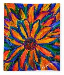 Sunflower Burst Fleece Blanket