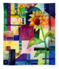 Sunflower Collage 2 Fleece Blanket