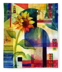 Sunflower Collage Fleece Blanket