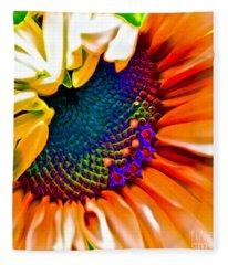 Sunflower Crazed Fleece Blanket