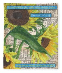 Sunflower Dictionary 1 Fleece Blanket