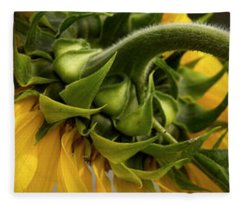 Sunflower In The Hubble Cosmos Fleece Blanket