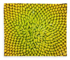 Sunflower Middle  Fleece Blanket