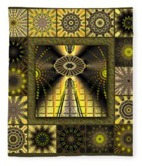 Sunflower Moon Redux Fleece Blanket