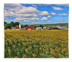 Sunflower Nirvana 17 Fleece Blanket