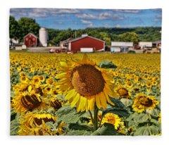Sunflower Nirvana 21 Fleece Blanket