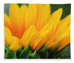 Sunflower Profile Fleece Blanket