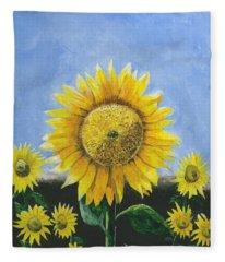 Sunflower Series One Fleece Blanket