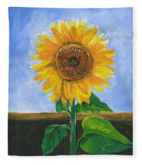 Sunflower Series Two Fleece Blanket
