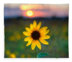 Sunflower Sunset Fleece Blanket