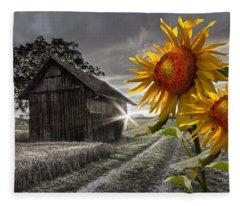 Sunflower Watch Fleece Blanket