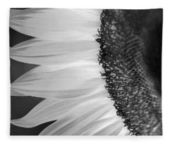 Sunflowers Beauty Black And White Fleece Blanket