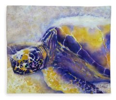 Sunning Turtle Fleece Blanket