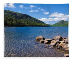 Sunny Day On Jordan Pond   Fleece Blanket