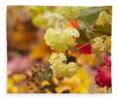 Sunny Mood. Amsterdam Flower Market Fleece Blanket