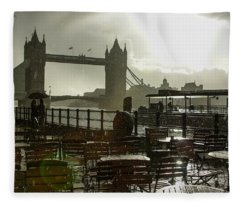 Sunny Rainstorm In London England Fleece Blanket