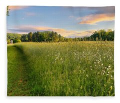 Sunny Valley Sunrise Fleece Blanket