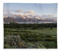 Sunrise At Grand Teton Fleece Blanket