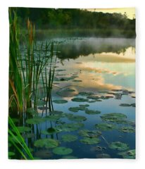 Sunrise At Pokagon State Park  Fleece Blanket
