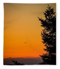 Sunrise Flight Departing Shannon Airport Fleece Blanket