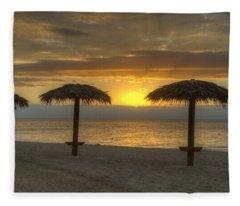 Sunrise Glory Fleece Blanket
