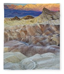Sunrise In Death Valley Fleece Blanket