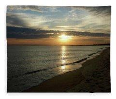 Sunrise In Norfolk Va Fleece Blanket