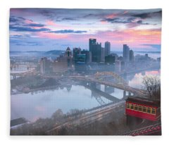 Pittsburgh Fall Day Fleece Blanket