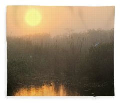 Sunrise In The Everglades Fleece Blanket