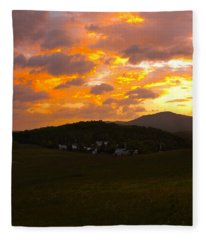 Sunrise In The Smokies Fleece Blanket