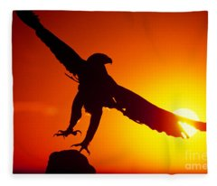 Sunrise Liftoff Golden Eagle Threatened Species Fleece Blanket