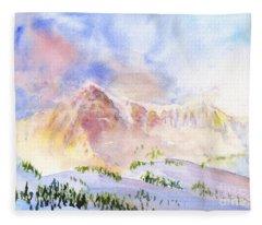 Sunrise On Mount Ogden Fleece Blanket