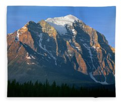 1m3518-sunrise On Mt. Temple Fleece Blanket