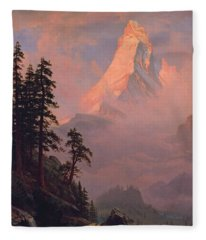 Sunrise On The Matterhorn Fleece Blanket