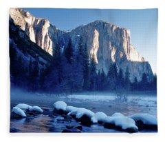 Sunrise On El Capitan Yosemite National Park Fleece Blanket