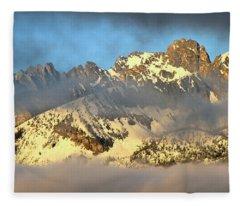 Sunrise On Thompson Peak Fleece Blanket