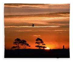 Sunrise Over Fenwick Island Fleece Blanket