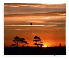 Sunrise Over Fenwick Island Fleece Blanket