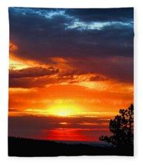 Sunrise Over Keystone Fleece Blanket