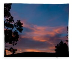 Sunrise Over Mammoth Campground Fleece Blanket