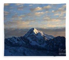 Sunrise Over Mt Huayna Potosi Fleece Blanket