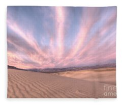 Sunrise Over Sand Dunes Fleece Blanket