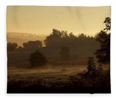 Sunrise Over The Mist Fleece Blanket