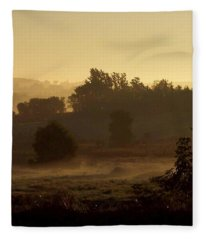 Sunrise Over The Mist Fleece Blanket