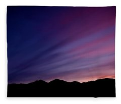 Sunrise Over The Mountains Fleece Blanket